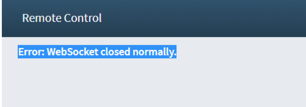 Web Socket Closed Normally