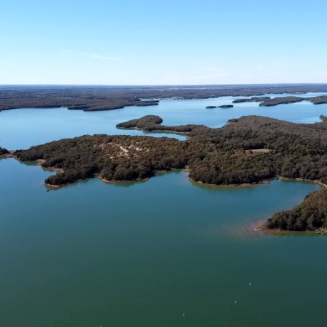 An aerial view of Lake Murray