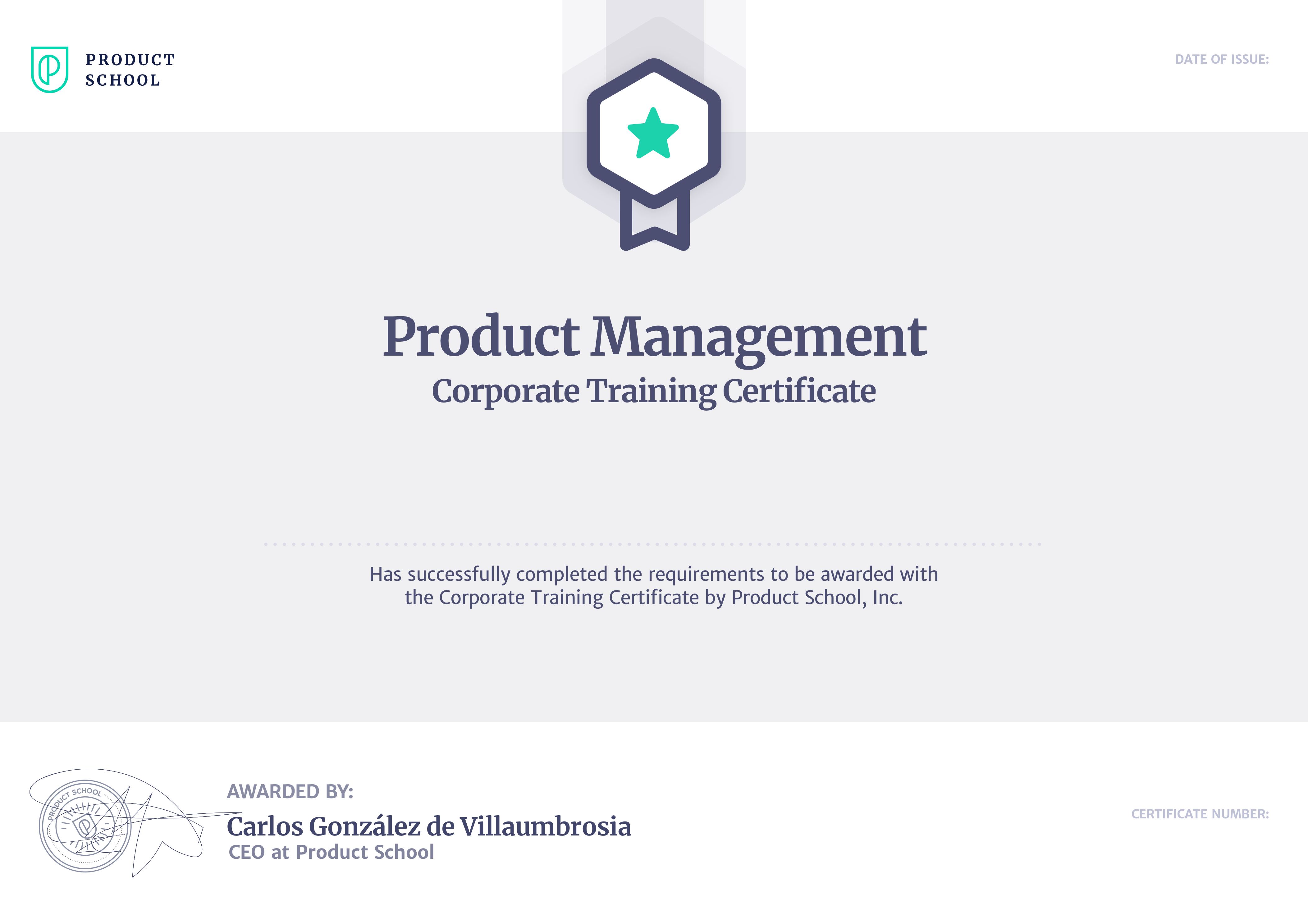 Product School credentials • Accredible • Certificates, Badges and ...