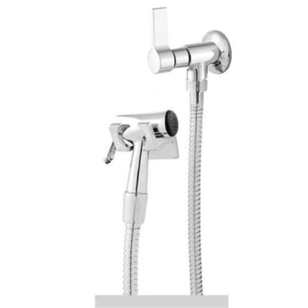 Ducha Higiênica Flexível Oliveira 1,20m C-70 1/4 Volta Para Banheiro Em Metal E Inox