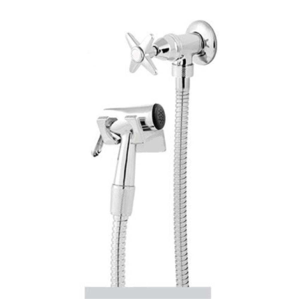 Ducha Higiênica Banheiro C-23 Flexível 1,20 m Inox Metal Oliveira