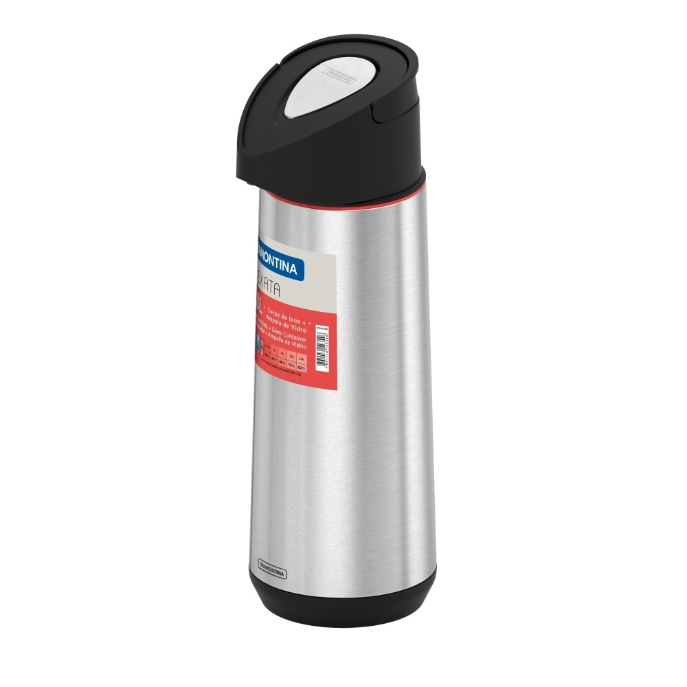 Garrafa Térmica Inox Exata 1,8 Litros Com Bomba de Pressão Tramontina