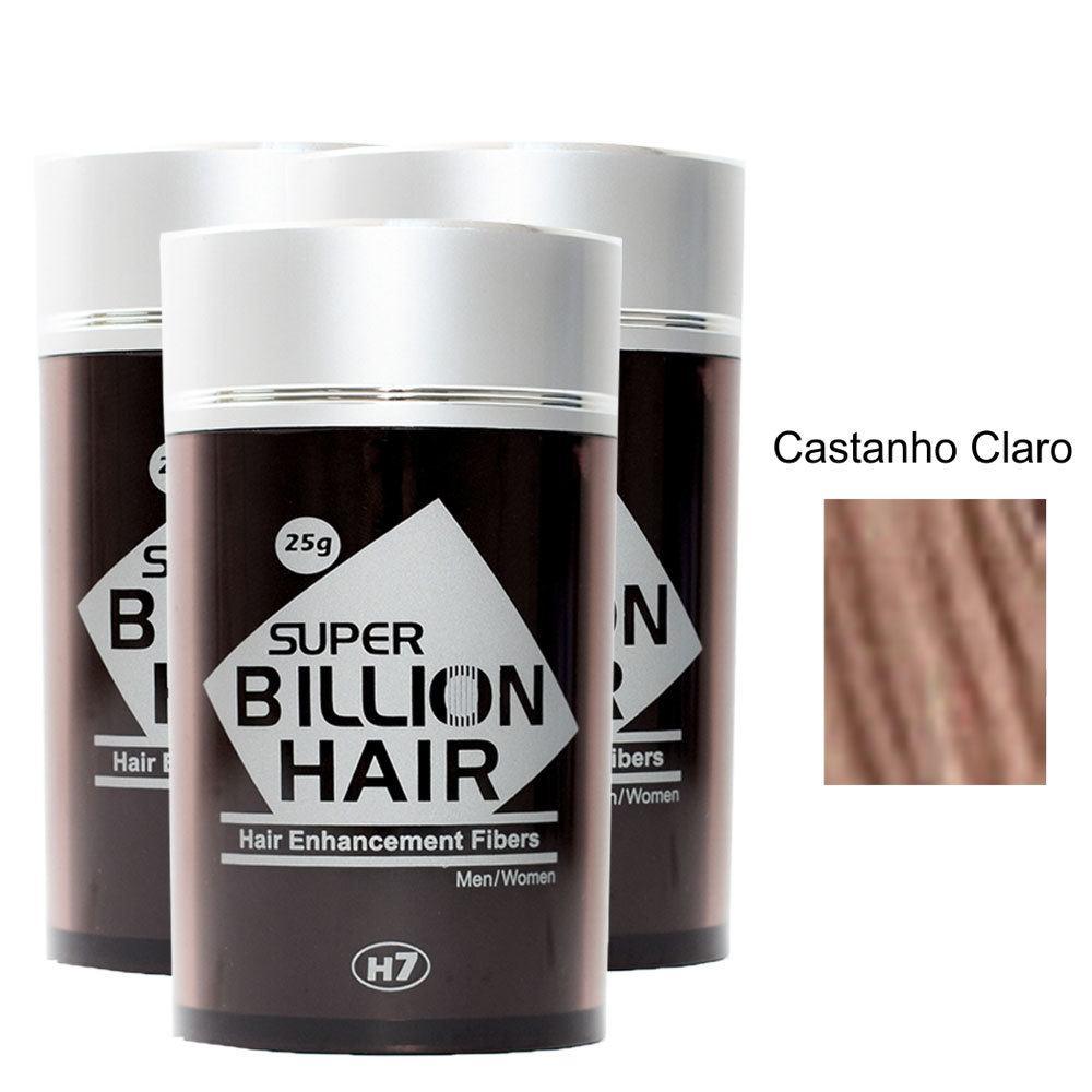 Kit 03 Maquiagem pra Calvície Billion Hair - Cast Claro 25g