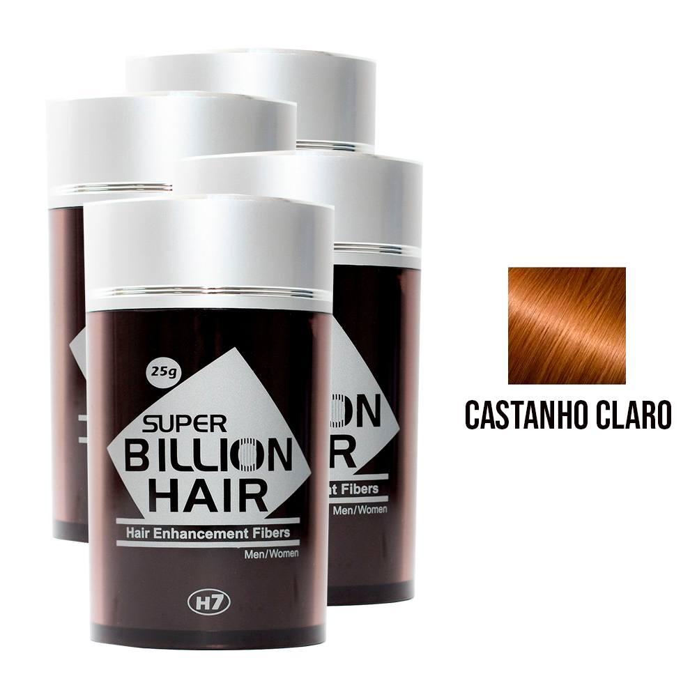 Kit 04 Maquiagem pra Calvície Billion Hair - Cast Claro 25g