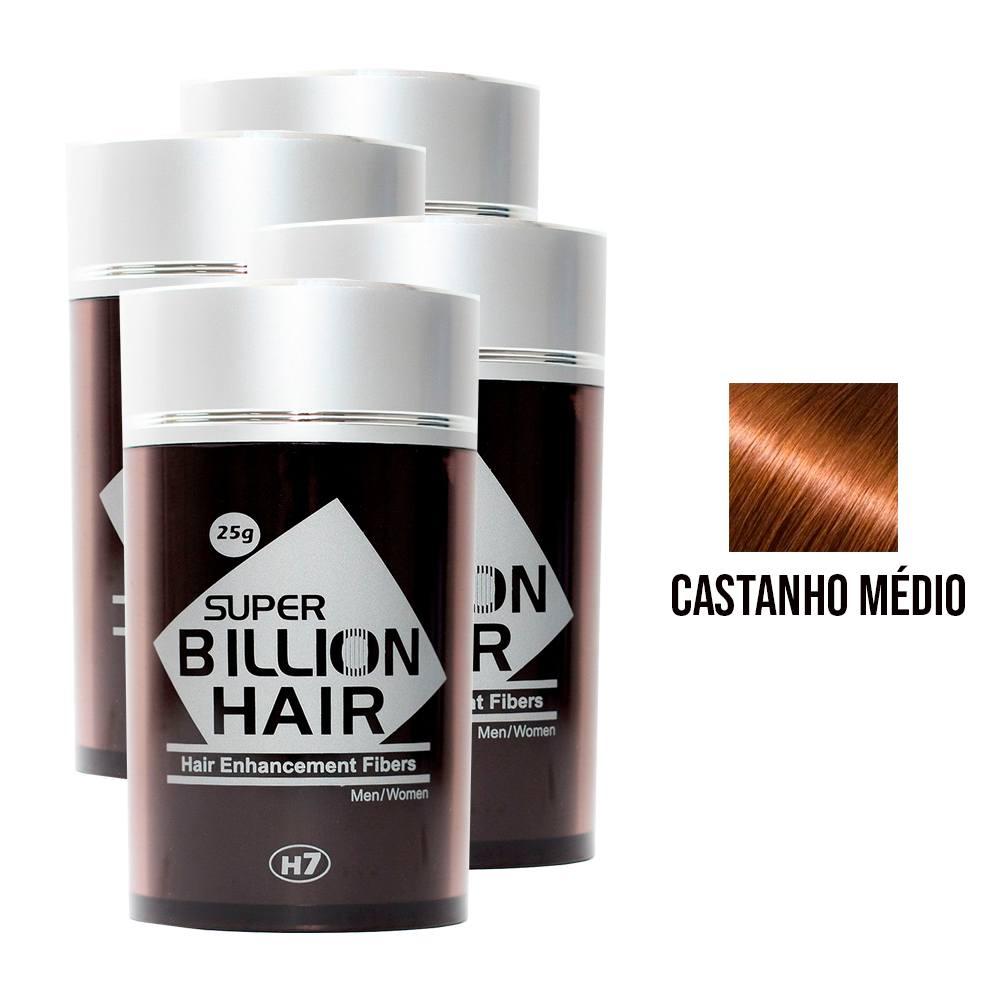 Kit 04 Maquiagem pra Calvície Billion Hair - Cast Médio 25g