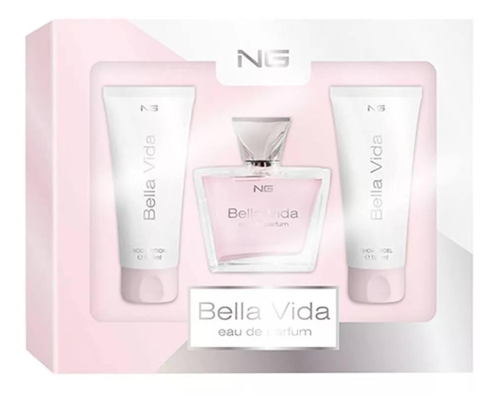 Kit Bella Vida Perfume+Loção+Gel de Banho da Ng Perfumes