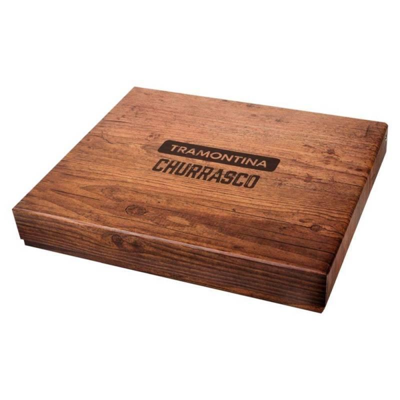 Kit Para Churrasco 15 Peças Escuro Polywood Tramontina 21198970