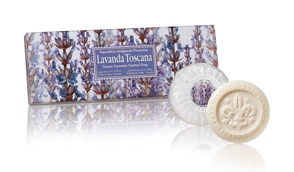 Estojo Sabonete Lavanda Toscana 3x100g Redondo da Fiorentino