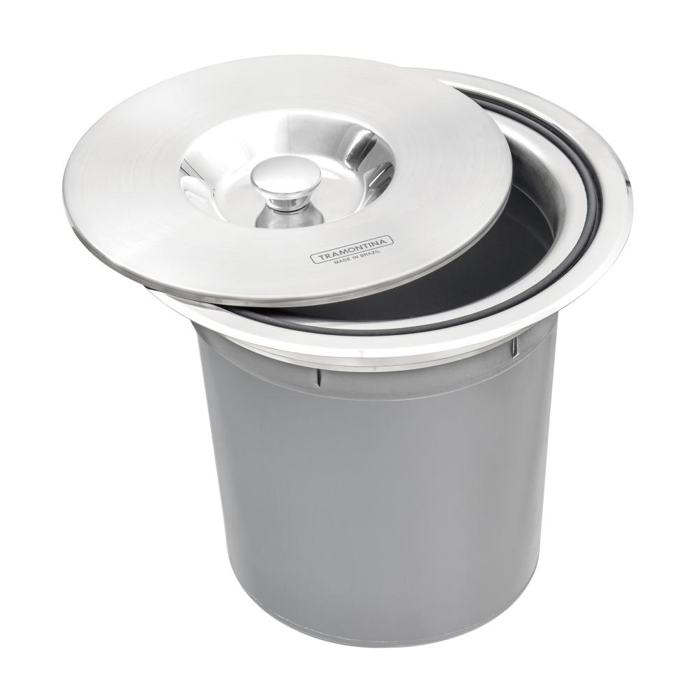 Lixeira De Embutir Para Granito 5 Litros Clean Round Tramontina
