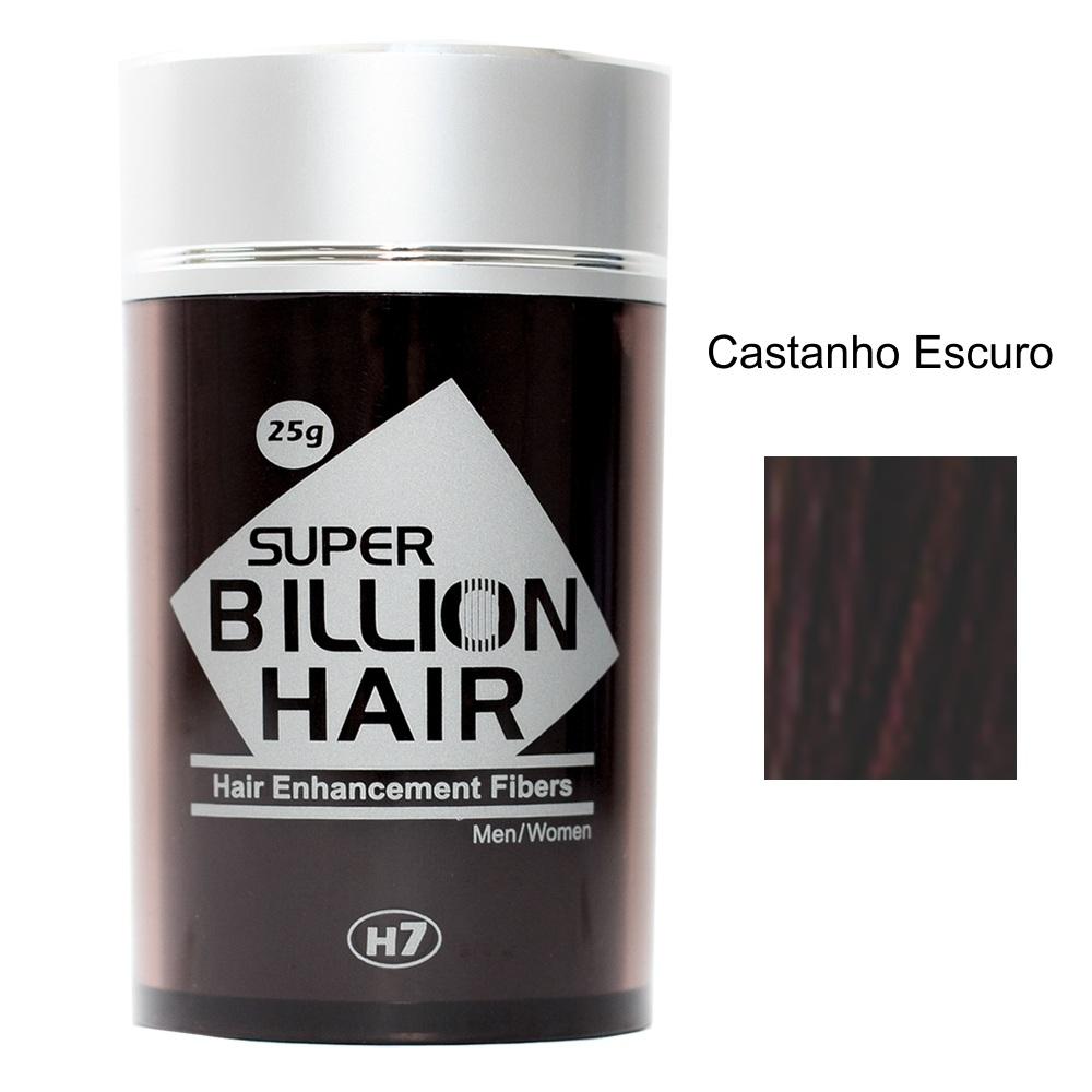 Maquiagem para Calvície - Super Billion Hair - 25g - Castanho Escuro