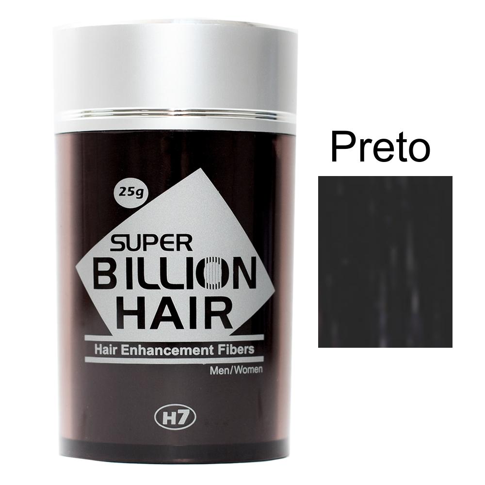 Maquiagem para Calvície - Super Billion Hair - 25g - Preto