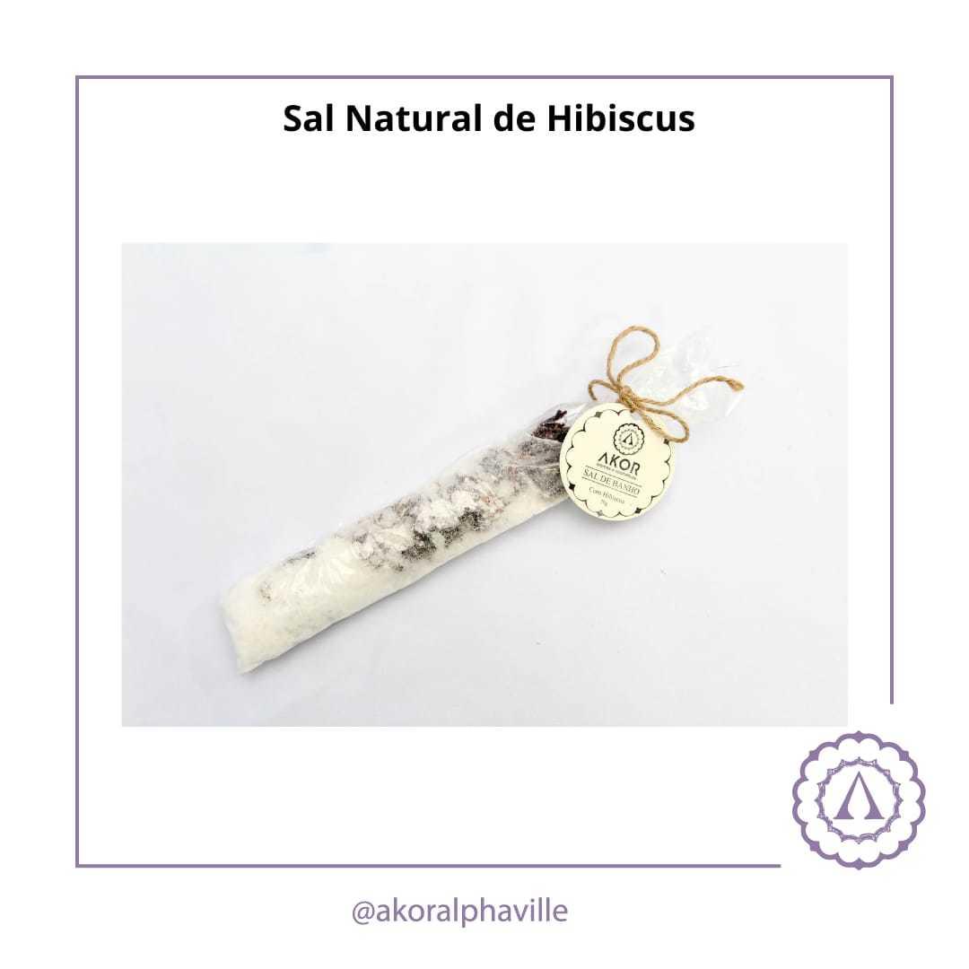Sal de banho com Hibiscus