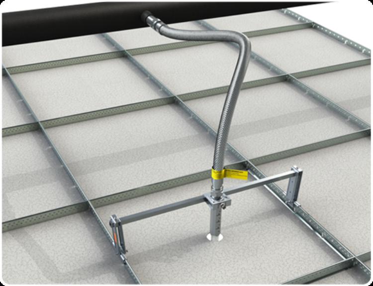Ultra SprinkFLEX® Flexible Hoses and SprinkFLEX Infinite Position Bracket for Fire Sprinkler Systems