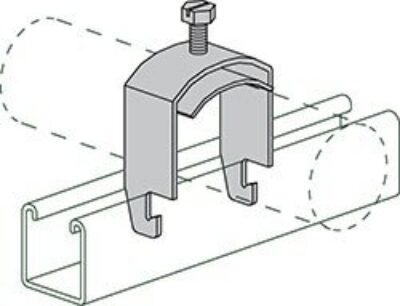 """AS 3113 4"""" One Piece Cable and Conduit Clamp"""
