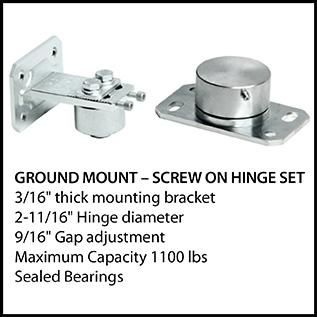 Ground Mount - Screw on Hinge Set