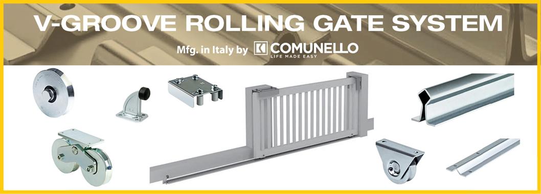 V-Groove Rolling Gate System