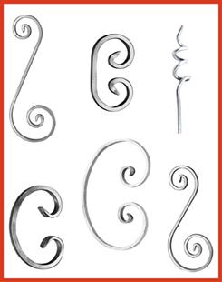 Aluminum Scrolls