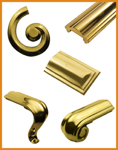Brass Handrail and Ends