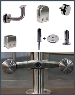 Glass Clamps and Glass Mount Brackets