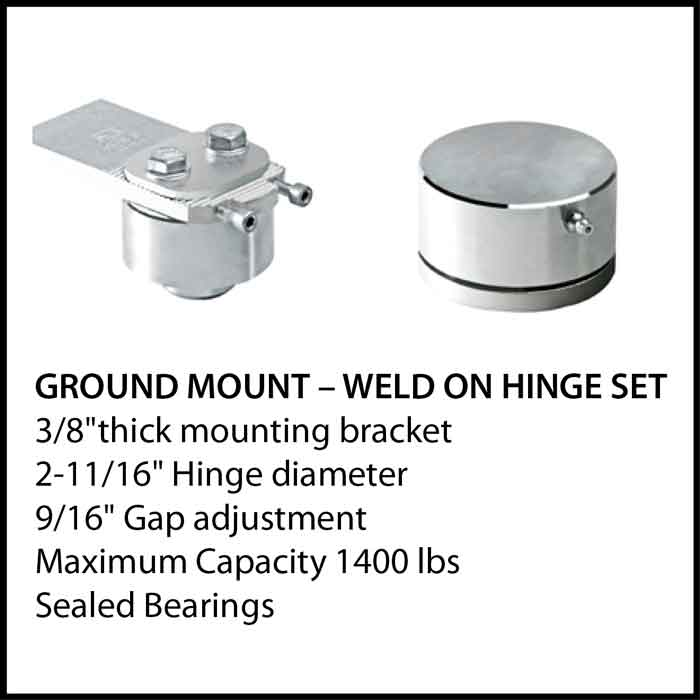 Ground Mount - Weld on Hinge Set