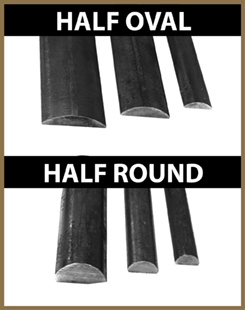 Half Oval and Half Round Bar