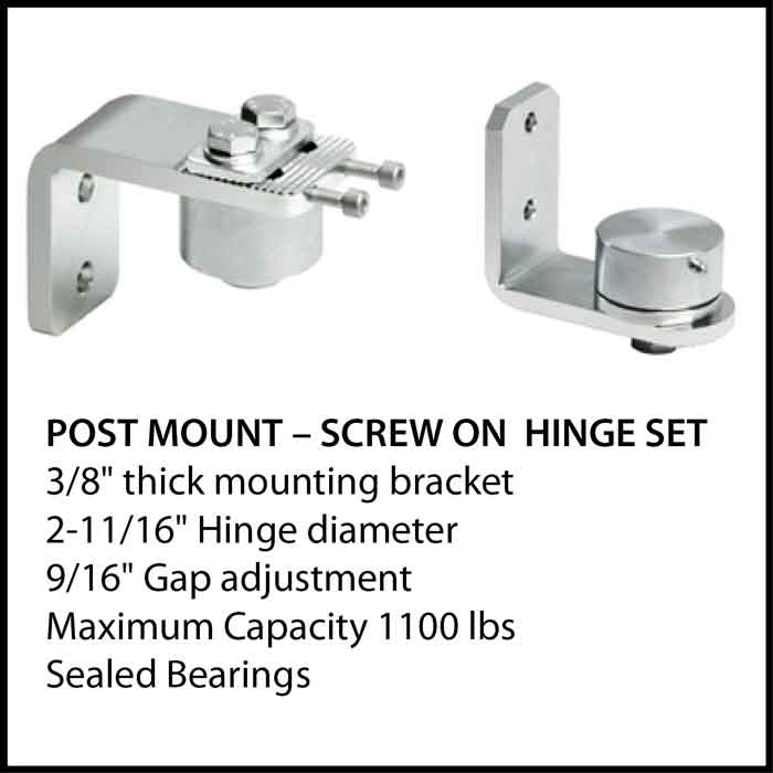 Post Mount - Screw on Hinge Set