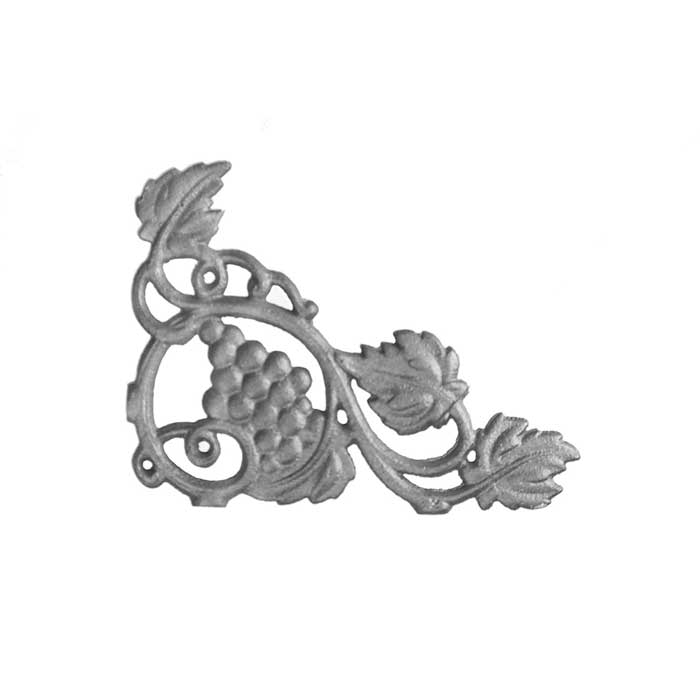"4-1/2"" Tall Cast Iron Corner Bracket, Vineyard Style, Double Faced"