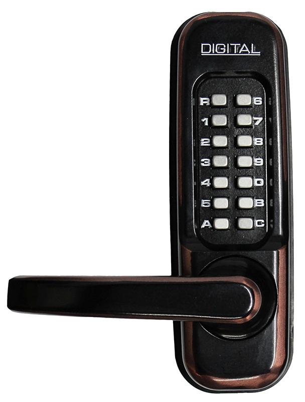 1150 Keyless Mechanical Heavy Duty Spring Latch Door Lock - Oil Rubbed Bronze