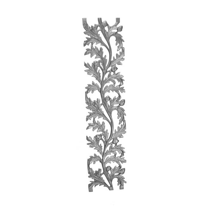 """33"""" Tall Cast Iron Panel, Water Oak Style, Double Faced"""
