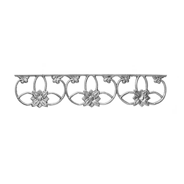 "4"" Tall Cast Iron Valance, Wedding Ring Style, Double Faced"