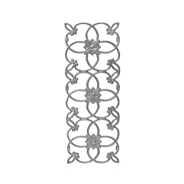 """19-1/4"""" Tall Cast Iron Panel, Wedding Ring Style, Double Faced"""