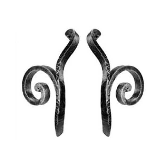 "3/4"" x 3/8"" Decorative Forged Steel Scrolls"