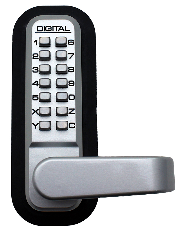 2835 Keyless Mechanical Spring Latch Door Lock in Satin Chrome