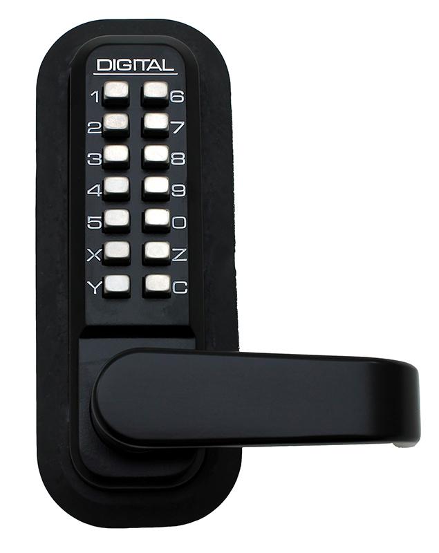 2985 Keyless Mechanical Digital Adams Rite Stile Latch Door Lock in Jet Black