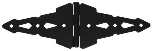 "Heavy Duty Contemporary 8"" Strap Hinge for Metal, Wood & Vinyl Gates, Black"