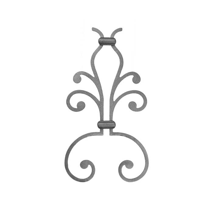 "Ornamental Cast Iron Picket Castings for 1/2"" sq. bar"