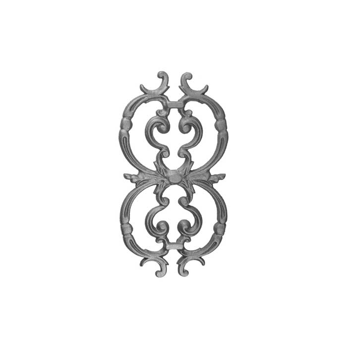 """Picket Casting for 1/2"""" sq., 15-1/2"""" High x 8-1/4"""" Wide, Cast Iron"""