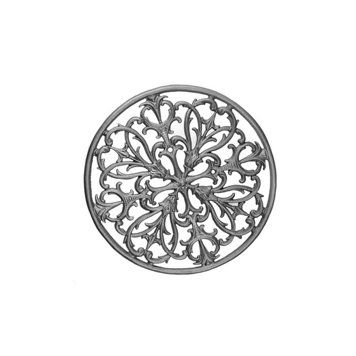 "22-1/4"" dia. Cast Iron Circle with Intricate Scroll Pattern, Single Faced"