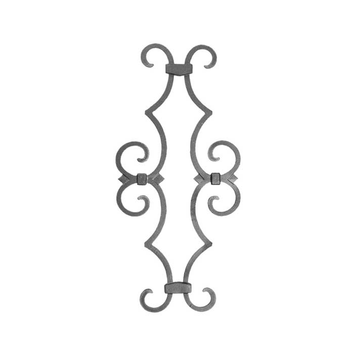 """Ornamental Cast Iron Picket Castings to fit over 1/2"""" sq. bar"""