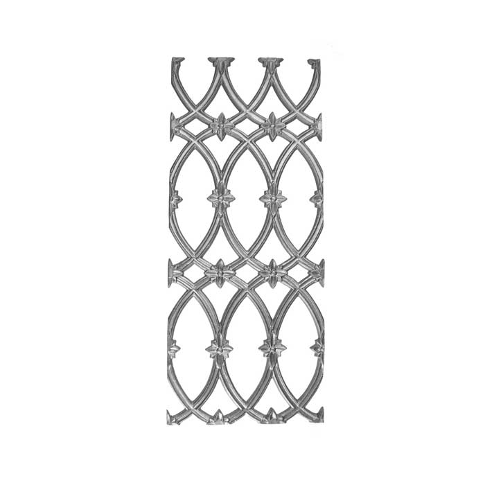 "27-3/4"" Tall Cast Iron Panel, Cathedral Style, Double Faced"