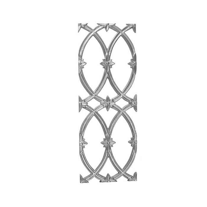 "22"" Tall Cast Iron Panel, Cathedral Style, Double Faced"
