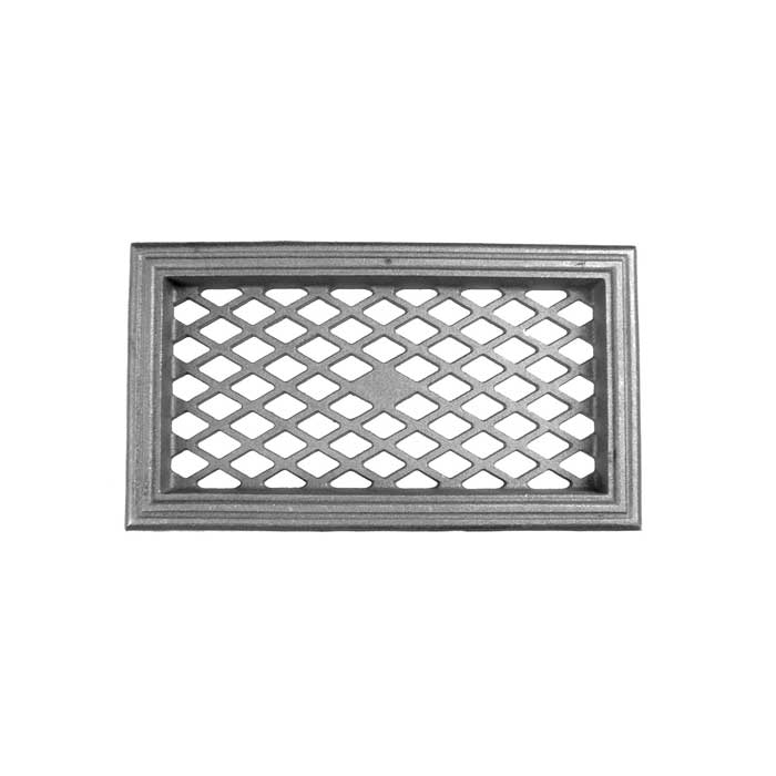 "17-1/2"" wide x 9-1/2"" tall Cast Iron Grille"