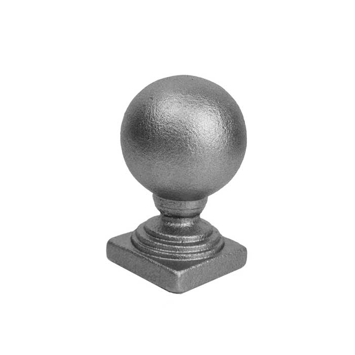 """Ball Finial, 1-3/4"""" sq. Solid Base, Cast Iron, 3-1/4"""" Tall"""