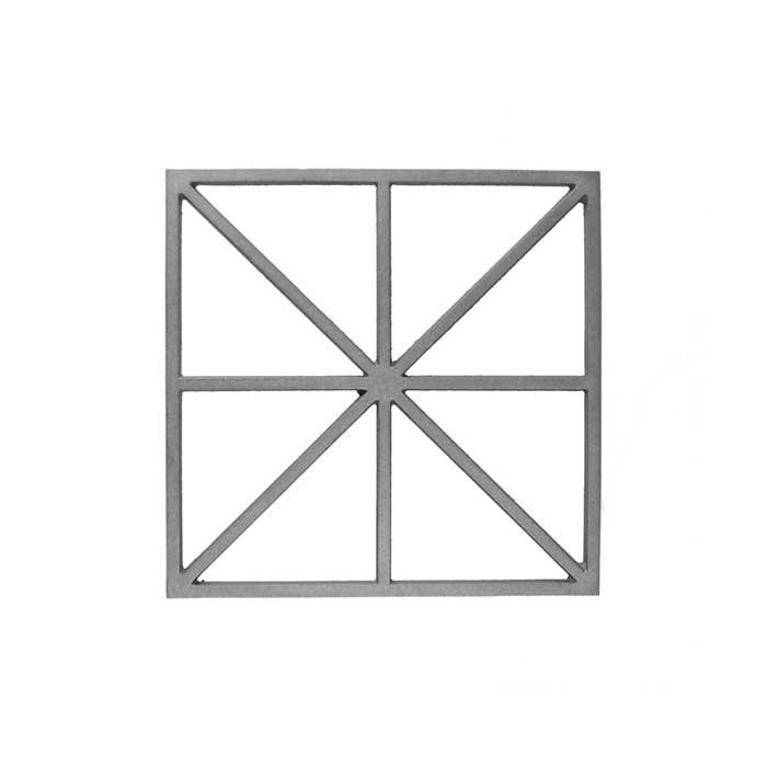 "14-1/4"" sq. Cast Iron Insert Panel, Single Faced"