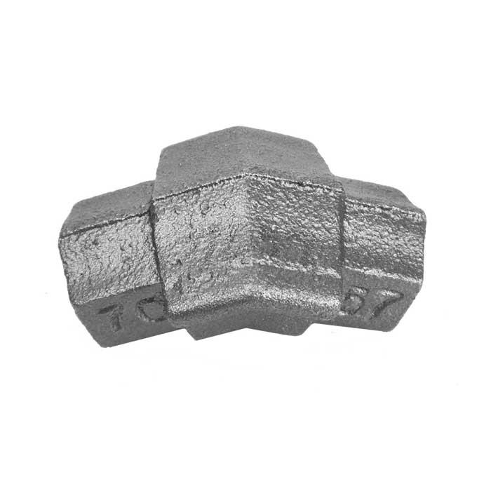 Step Rail Bend, Cast Iron, use with Tubular Handrail THR