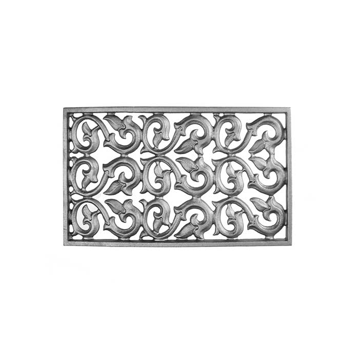 "20-1/4"" wide x 11-1/4"" tall Cast Iron Vent, Single Faced"