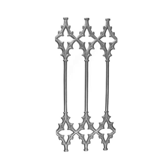 """30"""" Tall Cast Iron Panel, Cathedral Style, Double Faced"""