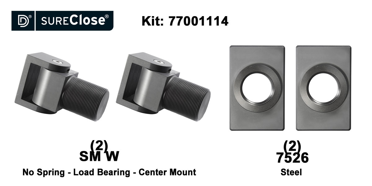 SM W/Non-Self Closing -up to 1500 lbs-Center Mount (Weld-On) Hinge Kit