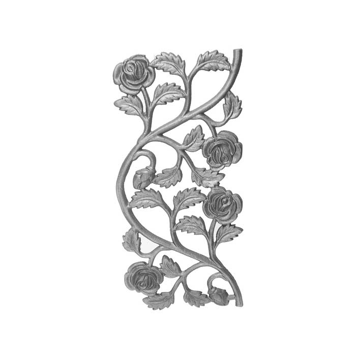 """16-1/4"""" Tall Cast Iron Panel, Rose Style, Double Faced"""