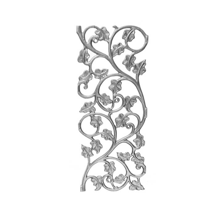 """19-1/4"""" Tall Cast Iron Panel, Ivy Leaf Style, Double Faced"""